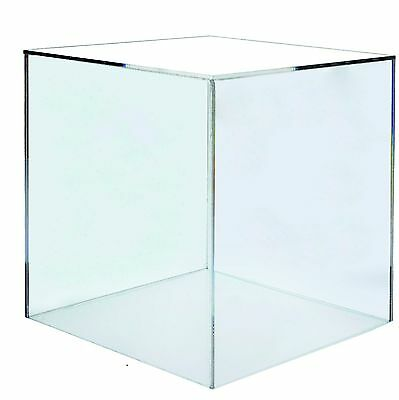 Clear acrylic, perspex 5 sided box cube, 300mm