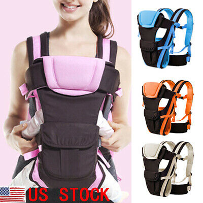 820453e53f3 US Newborn Adjustable Comfort Baby Carrier Sling Rider Backpack Wrap Straps
