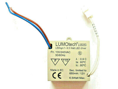 Lumotech L05050, Constant Current LED Driver 6.5W 1v - 12V 700mA