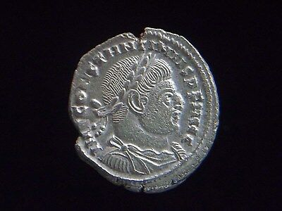 Authentic Roman Silvered Follis of Constantine I The Great, Solo reverse CC8839