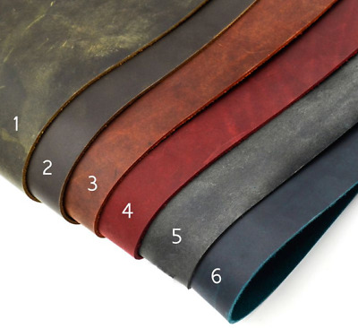 Horse Skin Leather 2mm Thick Vegetable Tanned Leather, 6 sizes & Colors, 1 pc