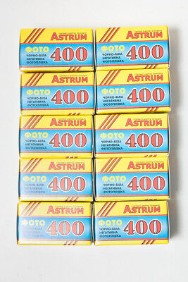 5 rolls of Astrum (Svema) Foto-400 35mm black and white film, FRESH, 2019