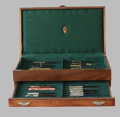Fountain Pen Storage Display Chest, #630,  Hand-Crafted, Holds 42 Pens, Usa
