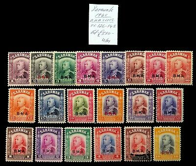 SARAWAK 1945 B.M.A. Complete SG126-145 U/M As Described NM877