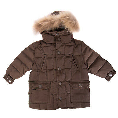 BROOKSFIELD Down Parka Jacket Size 6M Quilted Detachable Fur Trim Hooded