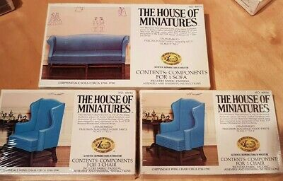 X-ACTO The House of Miniatures ~ Dolls House 12th scale build your own kits x 3
