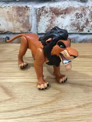 Disney The Lion King Rare Scar Mattel Action Figure Toy 90's Fighting Scar Moves