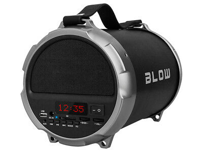 "Bluetooth Bazooka Speaker Boombox Portable 2 x 2"" Subwoofer 1 x 4"" 100W UK"