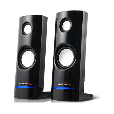 PC Computer Speakers 2.0 Stereo 8W USB 3.5 mm Jack Laptop Quality Clear Sound