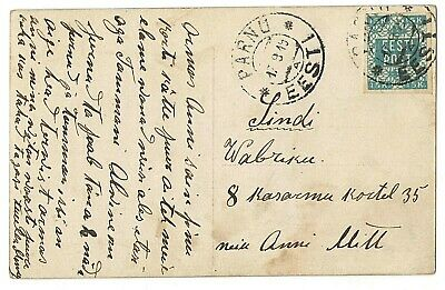 Estonia postcard September 1919 single franking by first stamp rare!