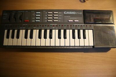CASIO PT-87 mini Vintage Synth / Electronic Synthétiseur Clavier + ROM Pack