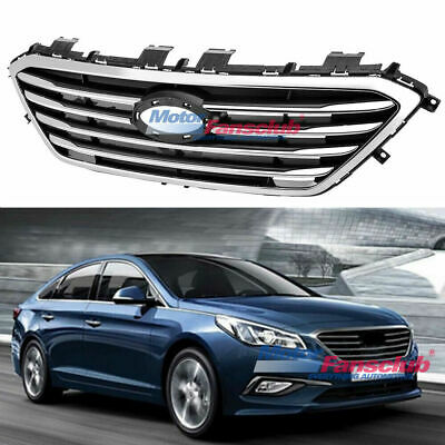 Front Per Hood Grill For Hyundai Sonata 2017 2016 Chrome Style Grille