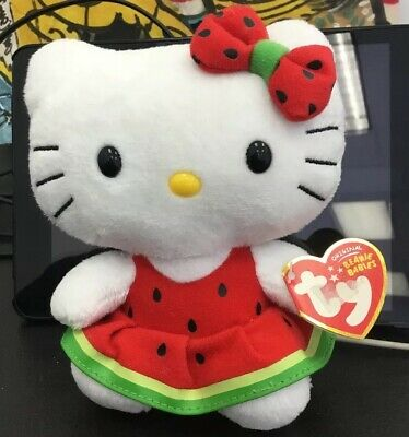 TY HELLO KITTY WATERMELON BEANIE BABY - MINT with MINT TAGS -  26.95 ... 986fa1fd1f70