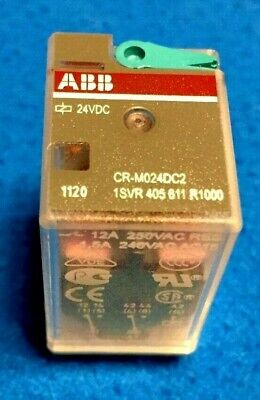 One (1) Box of TEN (10) NEW ABB CR-M024DC2 Pluggable Interface Relay