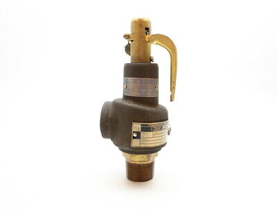 Dresser Consolidated 1541E Bronze Relief Valve 98cfm 15psi 1in Npt
