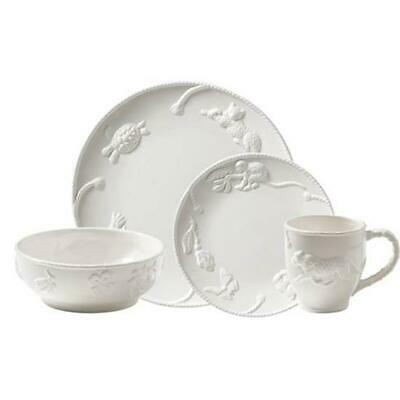 Jaguar Blanc by Fitz and Floyd 4 piece Place Setting, New from Display