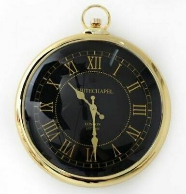 Wall Clock Gold Fab Pocket Watch Style Whitechapel London Large Round 42cm Decor