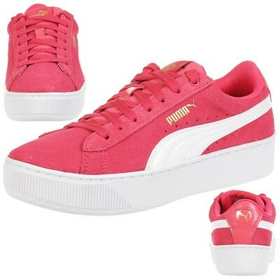 Junior Fille Chaussures Forme Vikky Femmes Puma Plate Rose L3jqcA54R