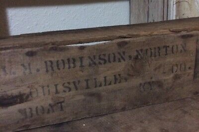 Antique Vintage Nautical JM Robinson Norton Boat Ship Sign Wooden Box
