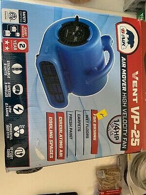B-Air 1/4 HP Air Mover for Water Damage Restoration Floor Blower  /  524