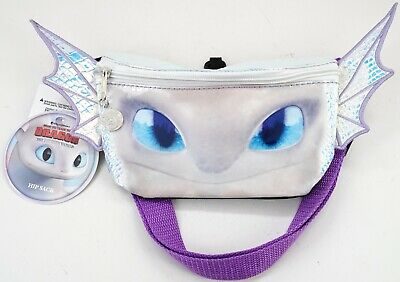 NEW Universal Dreamworks How To Train Your Dragon 3 Light Fury Hip/ Fanny Pack