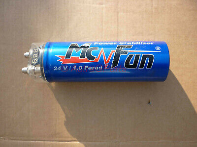 Power Cap Kondensator McFun mit LED 1.0 Farad 20V Car Hifi Subwoofer PowerCap