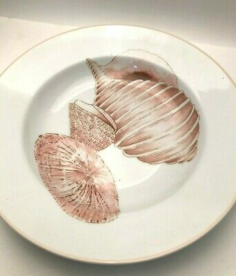 """Coquille by Fitz and Floyd large Soup Plate 9.25"""", 3 shells"""