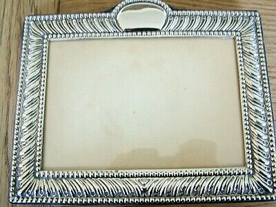 "VINTAGE 5.5"" x 3.5"" ENGLISH HM1991 SOLID SILVER PHOTO PICTURE FRAME NO RESERVE"