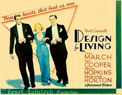 Design For Living - 1933 - Movie Poster