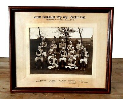 Vintage Antique 1920s Photo Football Club Team Crewe Cheshire Photograph England