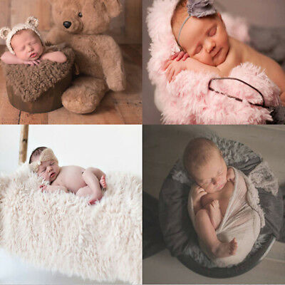 Soft Fur Quilt Baby Photo Props Backdrop Newborn Photography Mat Blanket Rug 6A