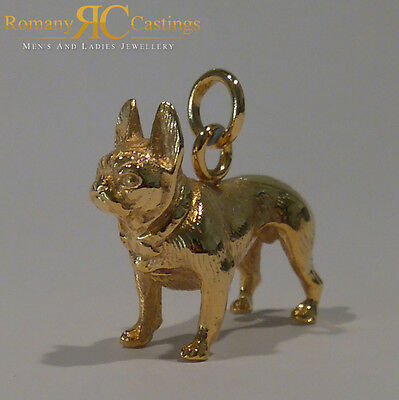Heavy French Bull Dog  Pendant cast in Jewellers Bronze with a large Jump Ring
