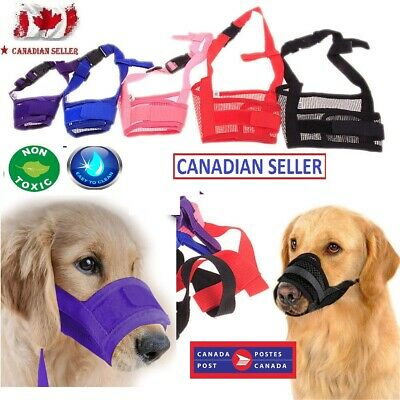 Dog Pet Anti -Stop Chewing Adjustable Mask Bite Bark Mesh Mouth Muzzle Groomin9