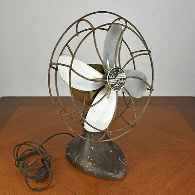 VTG Le John Desk Fan Model 901 Electric Metal Mid Century Desk Fan FOR RESTORE