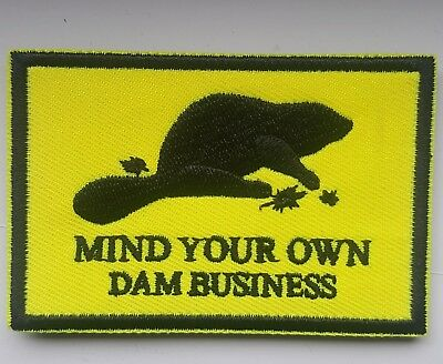 Canada Mind Your Own Dam Business Morale Patch