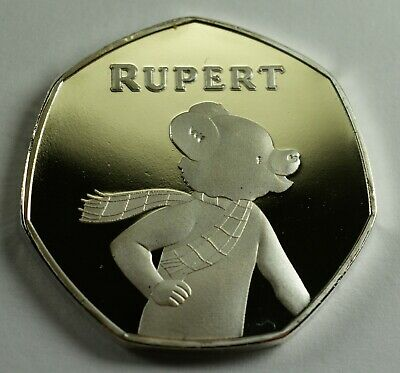 Brand New RUPERT THE BEAR .999 Silver Commemorative Coin Albums/50p Collectors.