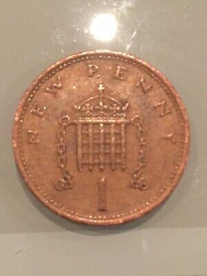 Very Rare 1p One Pence Coin Inscribed New Penny-1971