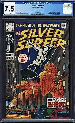 Silver Surfer #8 CGC 7.5 Buscema, Adkins, Mephisto, 1st Flying Dutchman (Ghost)