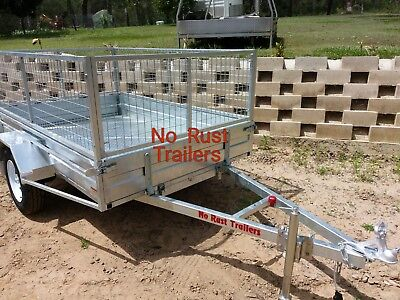 7 x 5 galvanized trailer with Cage and Tilt.