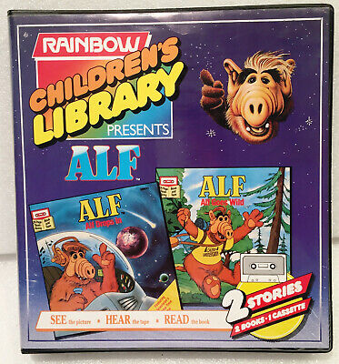 ALF - Childrens Library Disney Read along CASSETTE Tape Book PB Vintage