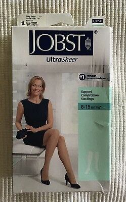 NEW Jobst therapeutic Compression socks 8-15 MmHg knee high silky beige sz 7-9