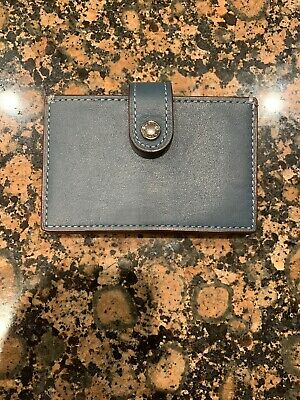 5c3f1128c06a COACH 1941 Accordion Glovetanned Leather Card Case Holder Wallet F54581  MSRP  95