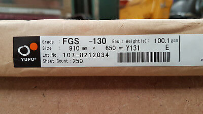 Yupo FGS 130 - 100 GSM (130 micron) Synthetic Paper 40 sheets A-4 210mmx297mm