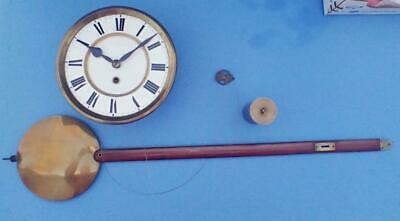 Antique German 1 Weight Regulator Wall Clock Complete Movement Assembly 4 Parts