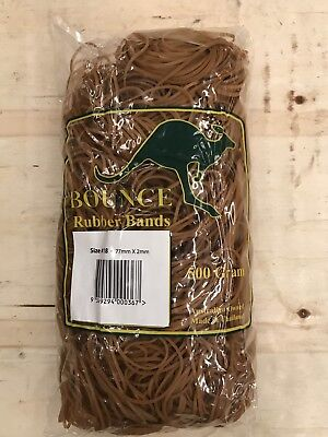 20x 500g Large Rubber Bands - Size 18 - approx 2050 bands per 500g - BULK QTY