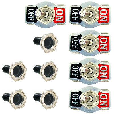 5 X Heavy Duty 20A 125V 250V 15A DPST 4Pin ON/OFF Rocker Toggle Switch Boot