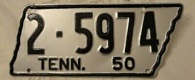 Vintage 1950 Tennessee license plate for Shelby County - restored