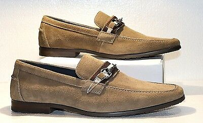 Joseph Abboud Collection Reuben Mens 11 Leather Horsebit Slip-On Loafers - NEW