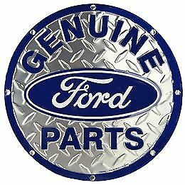 Genuine Ford Parts Round Vintage Tin Metal Sign Garage/Man Cave Wall Art