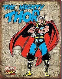 The Mighty THOR Tin Sign Garage Art Man Cave Wall